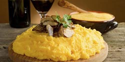 Polenta and mushrooms
